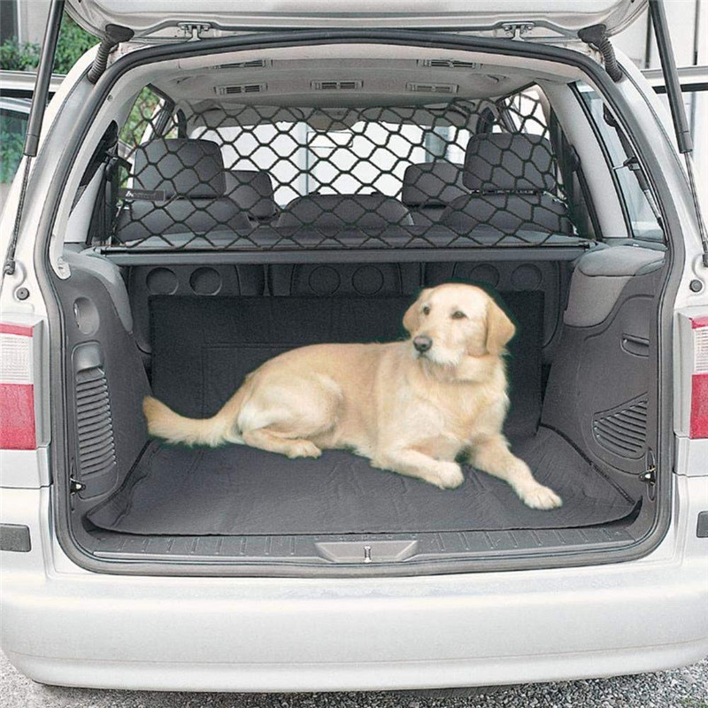 Universal Dog Barrier Net Mesh Car Adjustable Divider Bar Pet Safety Fence Balcony Stair Protective