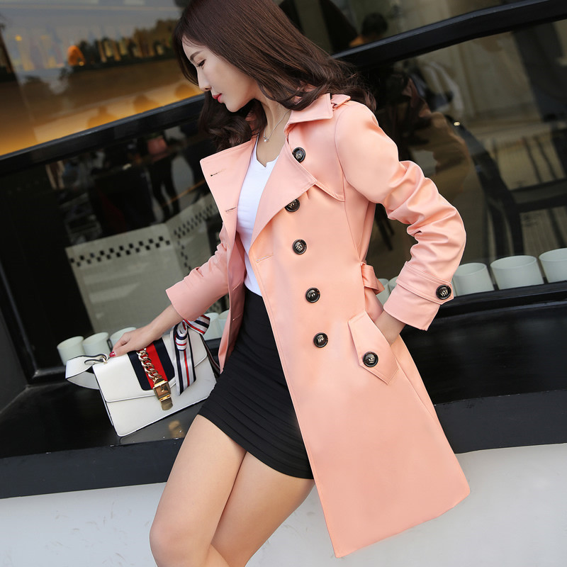 plus size 6XL fashion spring women Windbreaker Large size loose trench coat women elegant slim autumn female tops IOQRCJV T153