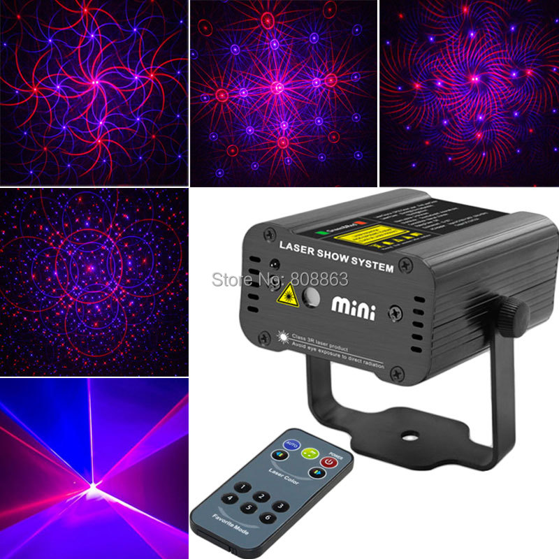 New high quality Remote Mini 200mw Red Blue Laser 4 patterns Projector Stage DJ lighting Dance Club Home Party Light Show D8 женские топы и футболки brand new 40356