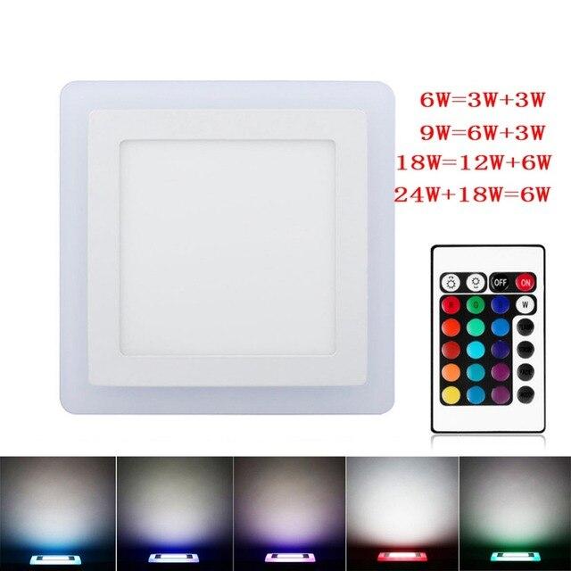 Platz 24 Watt LED Downlight 3 Modell Led Lampe Farbe Panel Licht RGB + Weiße