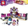 Sy379 amigos serie Estrella del Pop El vestidor 312 unids Compatible Con Lego bloques de construcción de juguetes para niños de regalo 41104