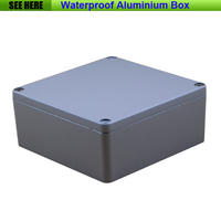Free Shipping Small SIze Waterproof Box IP67 Aluminium Waterproof Aluminium Box Case 160 160 70mm