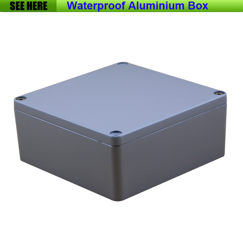 Free Shipping Small SIze Waterproof Box IP67 Aluminium Waterproof aluminium box case 160*160*70mm free shipping 1piece lot top quality 100% aluminium material waterproof ip67 standard aluminium box case 64 58 35mm