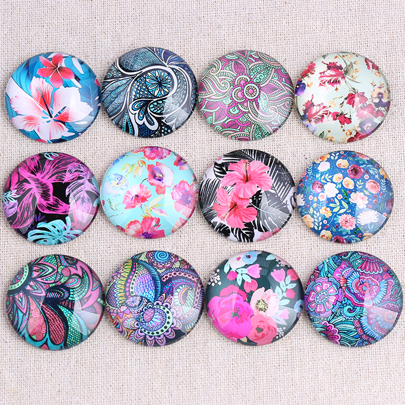 Mixed color flower photo round glass cabochon 12mm 14mm 18mm 20mm 25mm 30mm diy flat back handmade jewelry findingsMixed color flower photo round glass cabochon 12mm 14mm 18mm 20mm 25mm 30mm diy flat back handmade jewelry findings