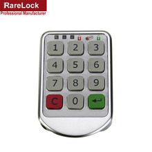 Rarelock 암호 잠금 디지털 전자 암호 키패드 번호 캐비닛 코드 잠금 지능형 a