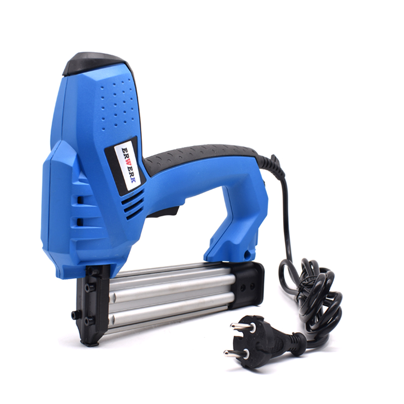 Adjustable Power 2 In 1 Electric Nail Stapler Gun 220V EU Plug Electric Power Tools With Protection Switch
