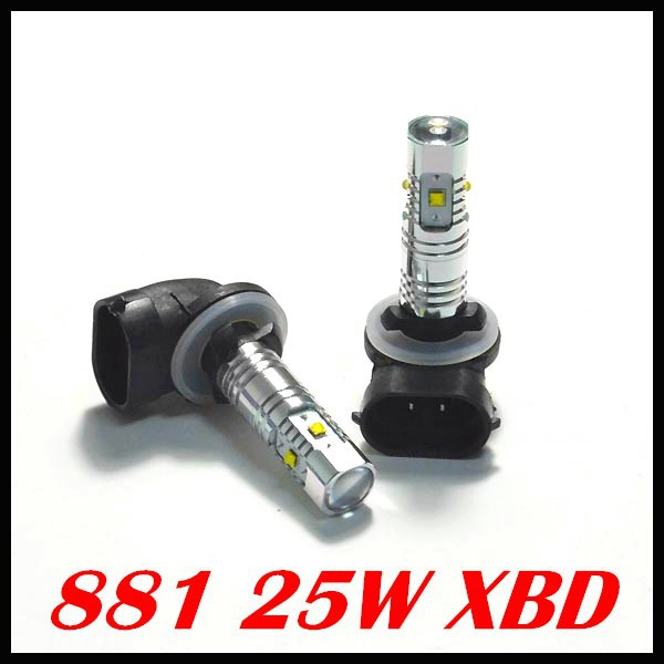 2 pieces / lot 881 led 880 h1 h3 h11 25w Cree Chip LED SMD Fog Light Daytime Running Light Bulbs