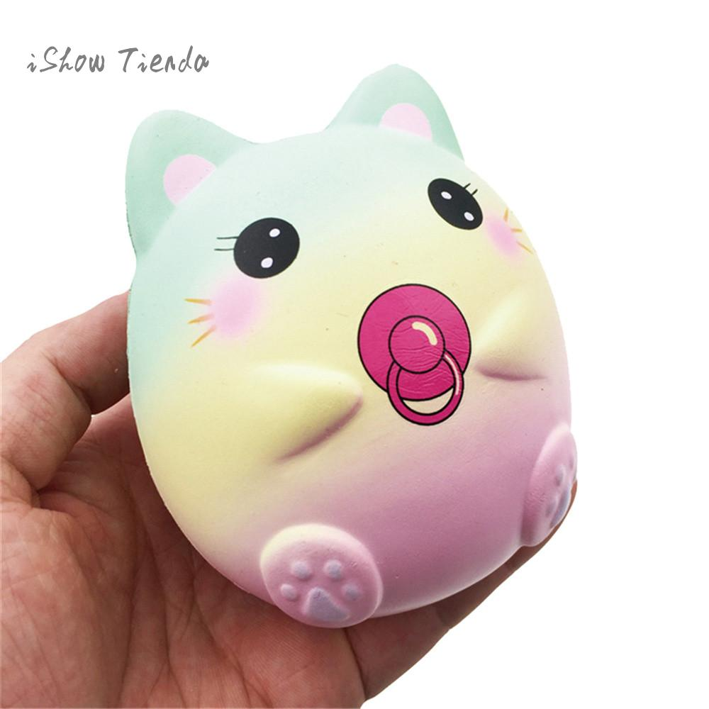 9.5cm Galaxy Cat String Cartoon Scented mochi Squishy Charm Slow Rising Squeeze Toy squishie practical jokes anti stress prank