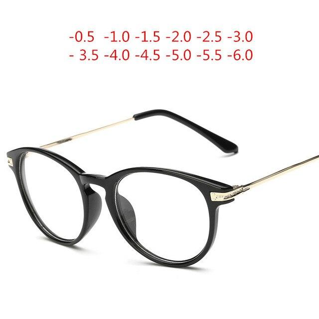 e4f2195586 Finished myopia glasses Men Women reading Eyeglasses myopia frame Lens  prescription optical astigmatism diopters -50