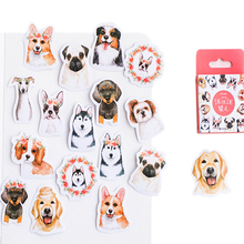 46pcs/box Kawaii Dogs star mini paper Diary Paper Lable Stickers Crafts Decoration Scrapbooking Sticker