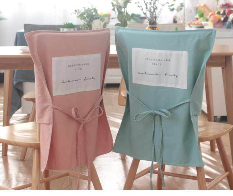 Us 10 33 6 Off Cotton Chair Back Cover Dining Table Seat Covers Bow Knot For Banquet Wedding Restaurant Hotel Home Anti Dirty Removable In