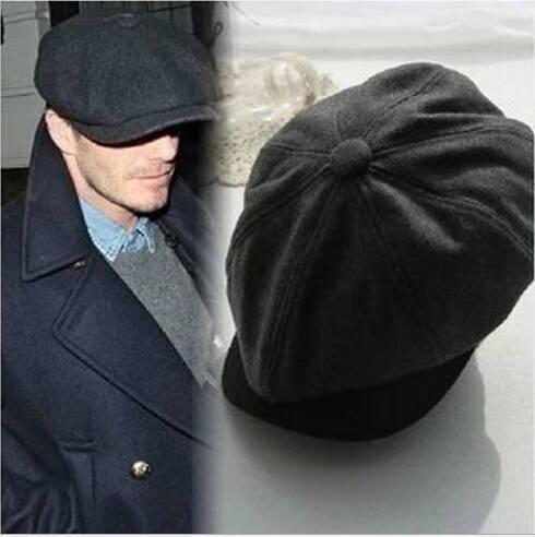 24df8c9b6d6c2 placeholder David Beckham mismo diseño masculino boina gorras planas solid  boina de lana para hombres sombreros tapa