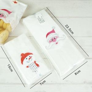 Image 4 - Marebell 30pcs חג המולד שקיות לאריזת עוגיות דביק נייר Cartoon סנטה קלאוס מסיבת ילדי של יום ביסקוויט אפיית אריזה