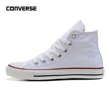 b448704cee5dd Converse All chaussures vedettes Homme et Femmes Haute Classique Unisexe  Blanc Sneakers chaussures pour skateboard 35
