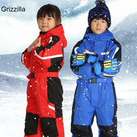 Children Outerwear Warm Skiing Jackets Thickened Kids Ski Suit Boys Girls Clothes Sets Winter Baby Rompers For 2 7T