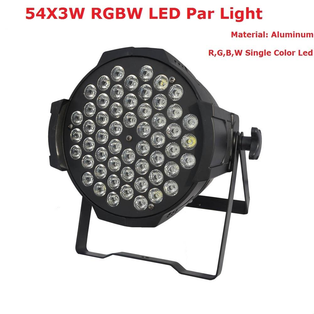Hot Sales 2017 Newest LED Par Can 54X3W RGBW Single Color LED Par Lights With 7