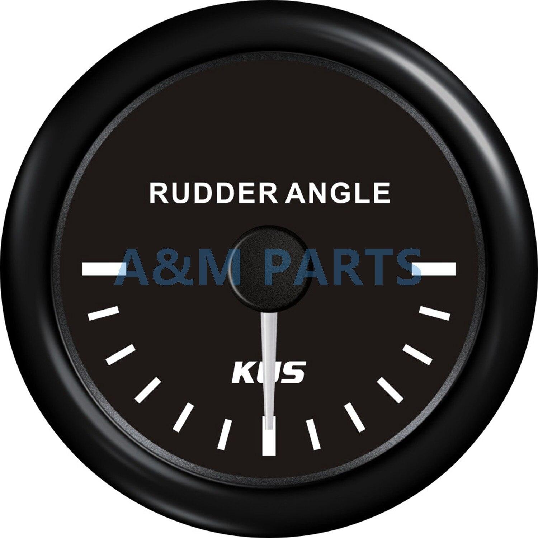 KUS Boat Rudder Angle Indicator Boat Angle Indicator Gauge 0 190ohms 12 24V 52mm