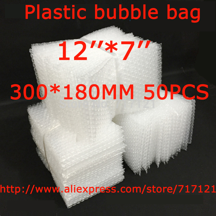 LOW BULK PRICE 50 pcs white Anti Static Bubble Envelopes Wrap Bags 12 x 7_300 x 180mm FREE SHIPPING
