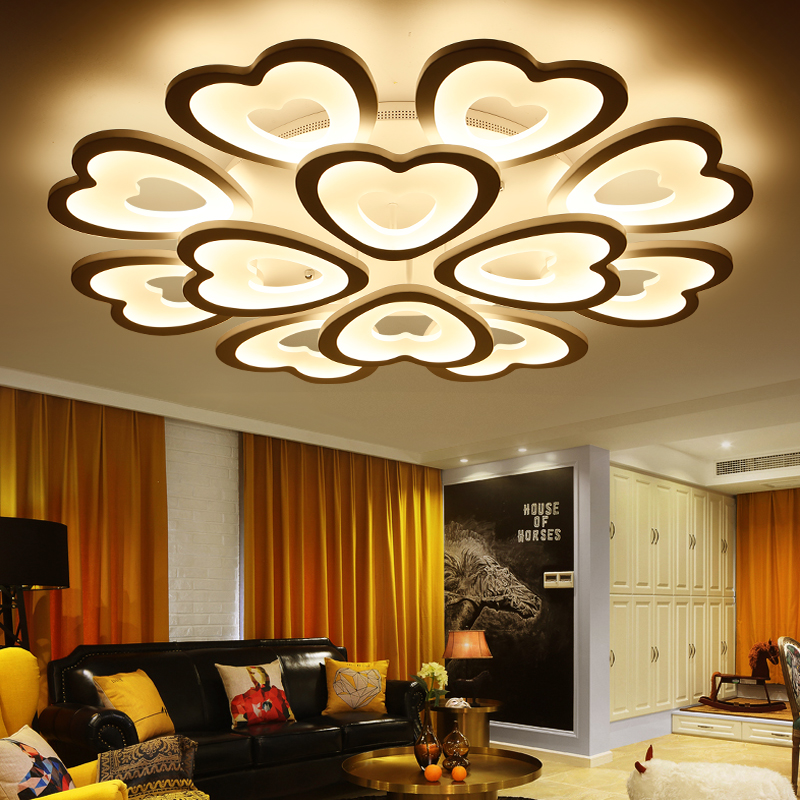 Eusolis 110 220v heart shape ceiling lamp luminarias luces - Luces led para casa ...