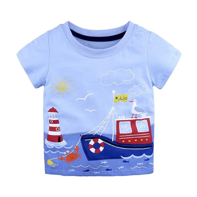 513ea930 ideacherry Spring Summer T-Shirt New Children Wear Striped Cartoon Printing  T-Shirt Baby