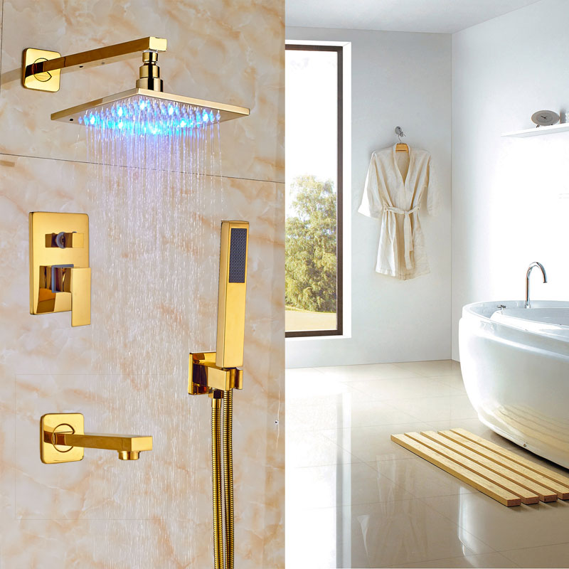 Wholesale And Retail Brass Gold Finish Shower Faucet Bathtub 8\