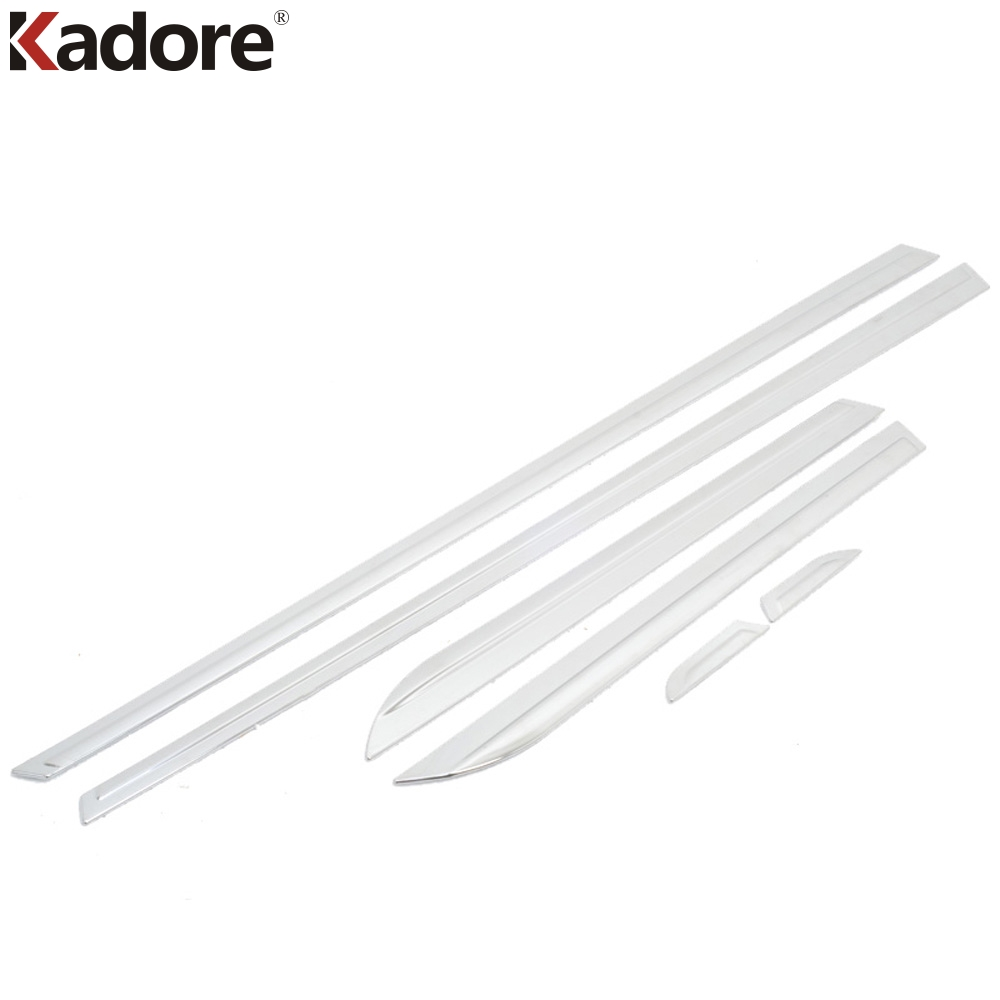 For Mazda 3 Axela 2014 2015 2016 ABS Chrome Side Door Body Liner Moulding Strips Sticker Trim 6PCS/SET Car Exterior Accessories