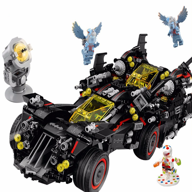 Batman Model Super Heroes Movie The Ultimate Batmobile Building Blocks Bricks Compatible with legoingly 70917 Toys for chilren lepin 07056 775pcs super heroes movie blocks the scuttler toys for children building blocks compatible legoe batman 70908