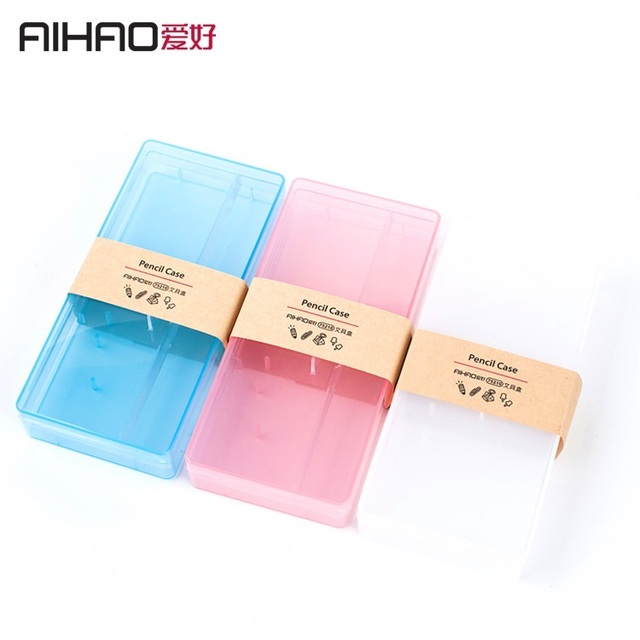 AIHAO Brand School Students Children Kids Colorful Transparent PP Pencil Case Mini Plastic Pencil Box Gift 3 Colors  sc 1 st  AliExpress.com & Online Shop AIHAO Brand School Students Children Kids Colorful ... Aboutintivar.Com