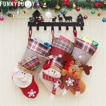 FUNNYBUNNY Christmas Present Stockings 3D Hat Style Gift Bag Home Decoration Xmas Tree Hanging Ornament Kids Favorite Festival