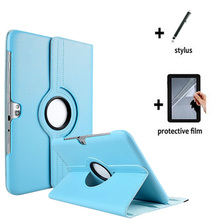 3in1 Rotating 360 Degree Luxury Folio Stand Leather Case Cover +1x Film + Stylus For Samsung Galaxy Note 10.1 N8000 N8010 N8020