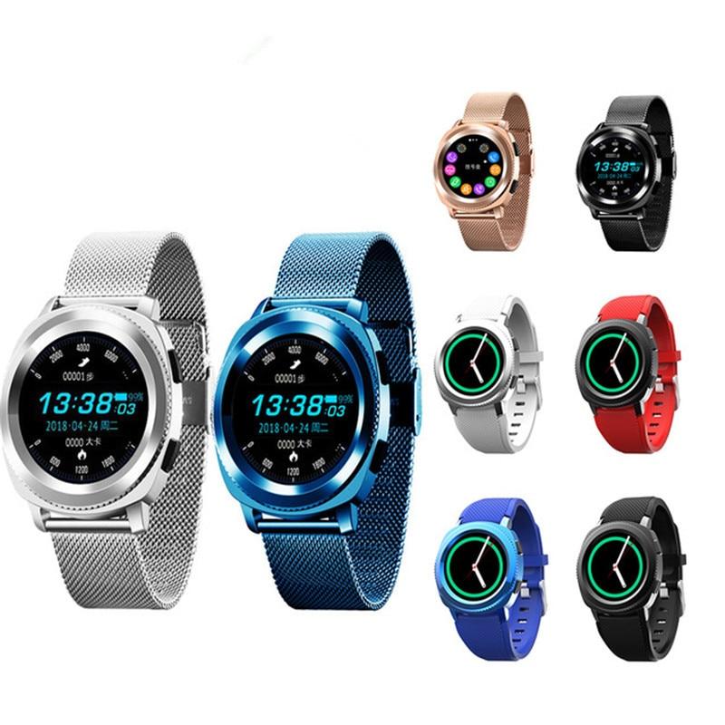 L2 Smart Watch Men IP68 Waterproof Heart Rate Monitor Steel Strap Replaceable Sport 1 3 Inch