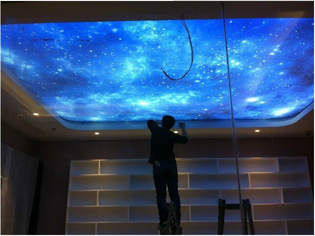 New UV Star Printed Skylight PVC stretch ceiling film все цены