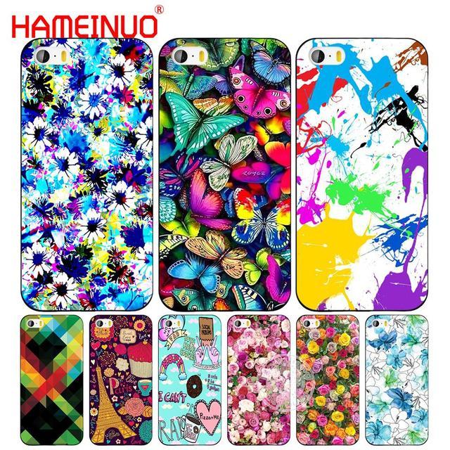 Hameinuo Colorato Butterfl Fiore Sfondo Cell Phone Case Cover Per