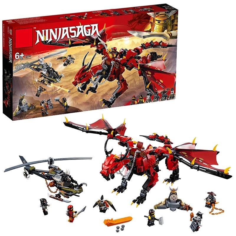2019 new Compatible Legoing Ninjagoing dragon knight building blocks enlighten toy for children DIY brick for boy Christmas gift