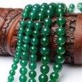 Perlas naturales de color turquesa de piedra de ágata verde sueltas Diy joyería venta al por mayor sortea mujer
