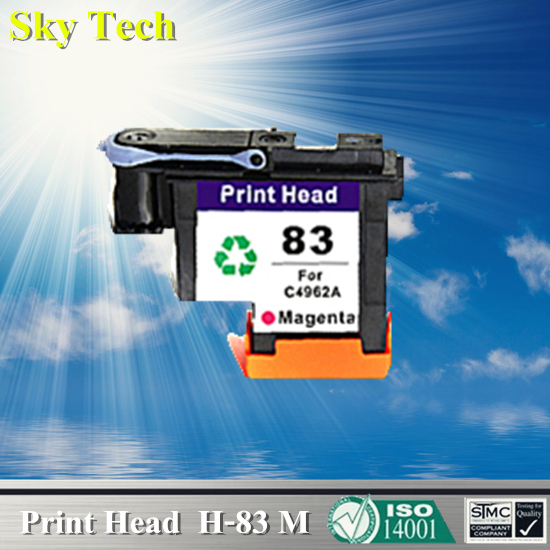 1 Magenta Ink cartridge Head For HP 83 Printhead , C4962A Remanufactured head For Hp DesignJet 5000 / Hp DesignJet 5500 for hdd for designjet 5500
