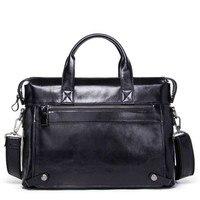 New Luxury Quality Shoulder Messenger Bag Briefcase Portable Casual Business Leather Messenger Bag Computer Laptop Bag Men Trave