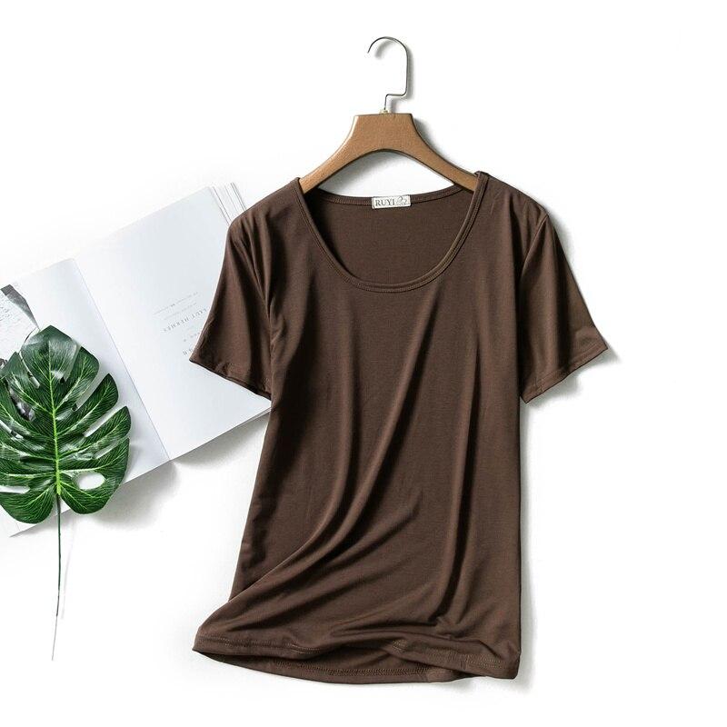 Fond Modal Mince Courtes Grand Femme Et Porte T Lâche Manches Xia Chemise Pur Corps Un À shirt Avec gC8xqwOOa
