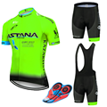 2019 Pro UCI World Tour Мужская одежда для велоспорта Астана одежда для горного велосипеда командная одежда для велоспорта Ropa Ciclismo Jersey 16D Gel