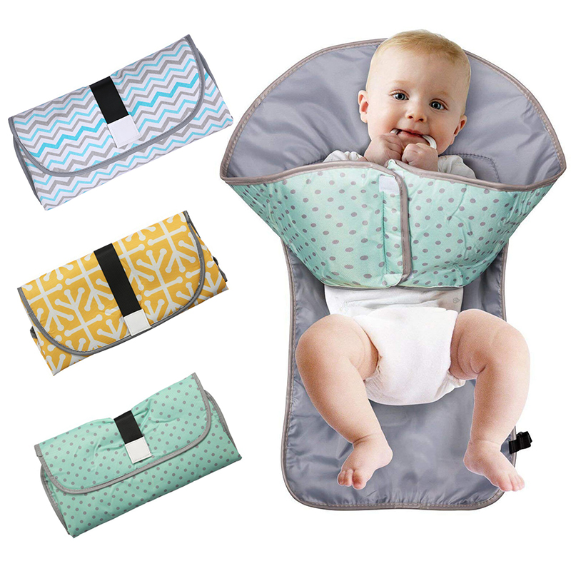 Multifunctional Portable Infant Baby Foldable Urine Mat Waterproof Nappy Bag Diaper Changing Cover Pad Travel Outdoor Diaper Mat