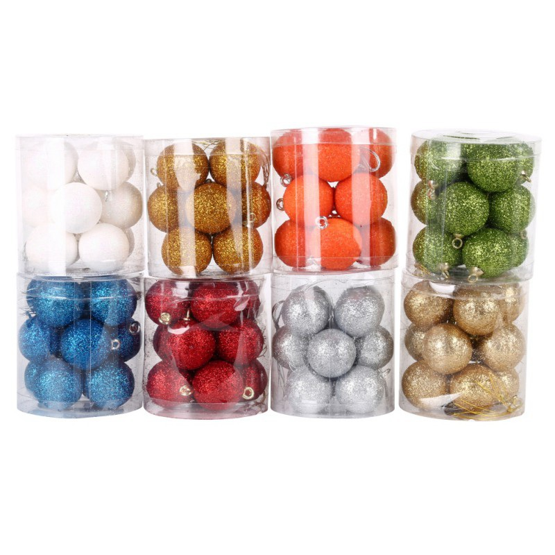 New 8 colors Christmas Tree Ball Baubles Xmas Party Wedding Hanging Ornament Christmas Decoration Supplies