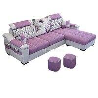 3 Seat Linen Living Room Sofa Set Home Furniture Modern Design Frame Soft Sponge L Shape Home Furniture
