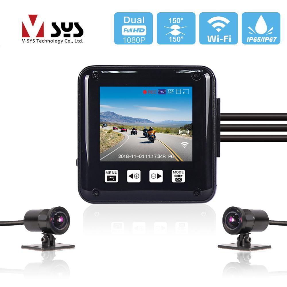 SYS VSYS P6 P6F WiFi Motorcycle DVR Dash Camera Reorder 2 0 LCD Full Body Waterproof