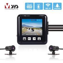 SYS VSYS P6 P6F Wi-Fi Видеорегистраторы для мотоциклов тире Камера убедившись в 2,0 »ЖК-дисплей всего тела Водонепроницаемый двойной Full HD 1080 P спереди и сзади объектив для камер заднего вида