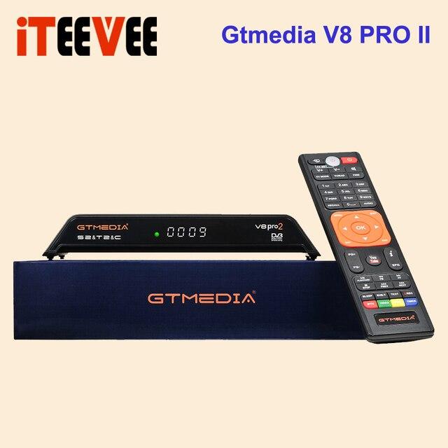 GTMedia V8 Pro2 DVB S2+T2+Cable powervu decoder Support H.265 Biss key CCAM Upgrade From V8 golden