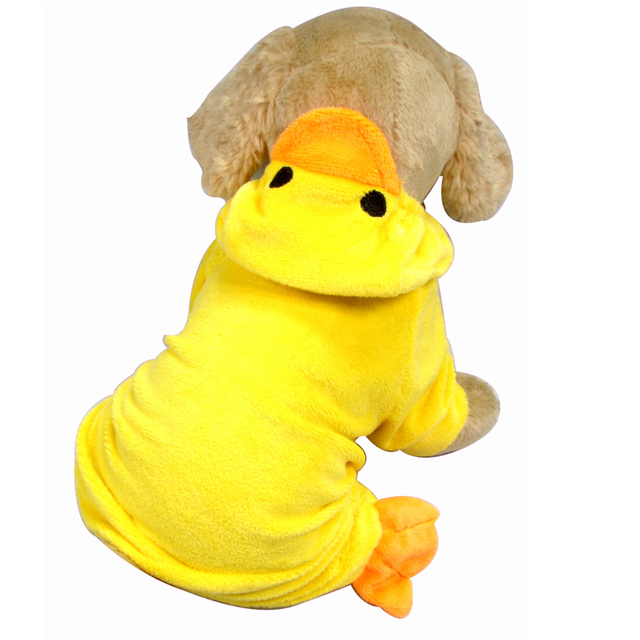 Ropa del perro del diseño del pato amarillo ropa para perros de ...