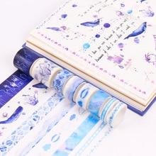 Купить с кэшбэком 8 Pcs/Set Washi Tape Masking Tapes Stickers Scrapbooking Bant Cinta Adhesiva Decorativa Washitape Cosas Kawaii Sakura Vintage