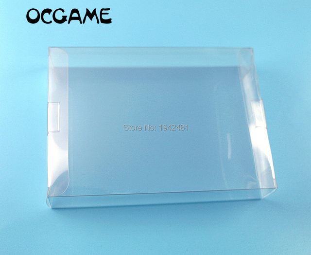OCGAME 5 قطعة/الوحدة ل نينتندو صندوق الألعاب es واضح شفاف ل SNES N64 صندوق الألعاب حامي حافظة ألعاب CIB البلاستيك PET حامي