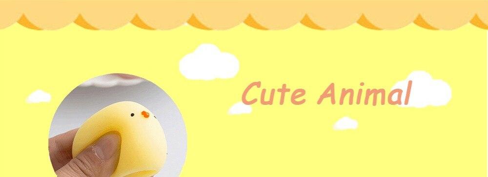 Забавный подарок милые антистрессовые мягкие игрушки милый мягкий силиконовый сжимающий руку детская игрушка Kawaii хлюпает животных Медведь Кролик WY30