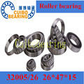 Non-standard taper roller bearing 32005/26 Auto Wheel Tapered China Bearing size:26x47x15mm